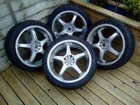 Ford/vauxhall alloy wheels