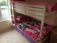 Bunkbeds with high quality mattresses