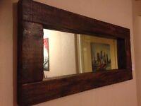 Solid oak mirror - brand new