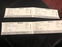 2 X BENIDORM LIVE THEATRE TICKETS - NEWCASTLE 15/9/18
