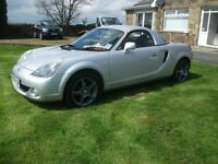 TOYOTA MR2 ROADSTER VERY LOW MILEAGE FOR YR. HARD TOP ALSO AVAILABLE