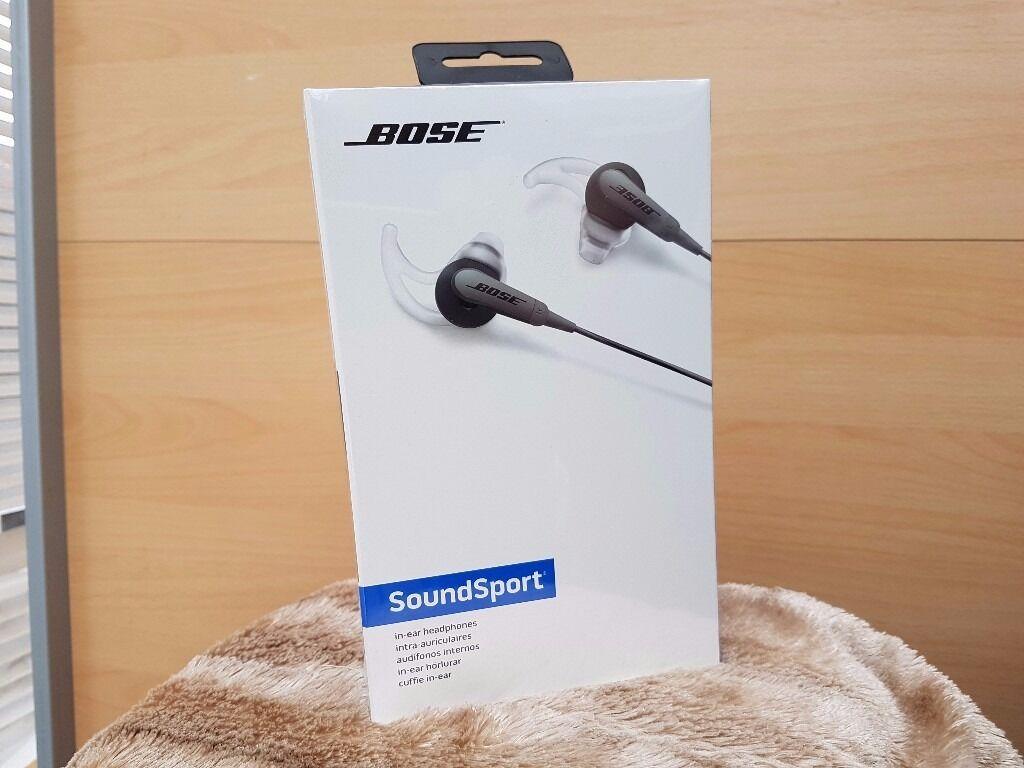 bose headphones sport box. new bose soundsport in-ear headphones sealed sport box