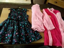 Girls 4-5 party dress and dressing gown