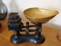 Old Fashioned Kitchen Scales with Weights