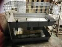 Double indoor rabbit cage