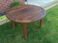 Wooden garden table 120cm