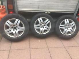 Set of 3 mark 4 golf tdi rims and tyres