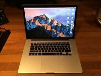 "Macbook Pro Retina 15"" Mid-2015 Top Spec: 2.5GHz i7, 16GB RAM, 500GB storage, Force-touch, LIKE NEW"