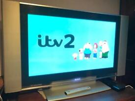 """Sony 37"""" Plasma TV with remote and manual"""