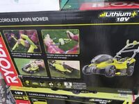 New in sealed box Ryobi 18V 36cm Cordless Battery Lawn Mower Lawnmower