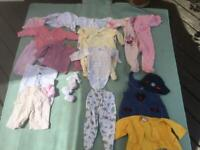 Bundle of baby girl clothes birth to 12 months
