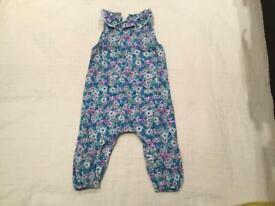 Baby Boden retro floral romper suit age 12-18 months