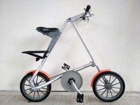 "(2787) 16"" Lightweight Aluminium STRIDA MK3 FOLDING COMMUTER BIKE FOLDABLE BICYCLE Height: 145-193cm"