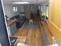 Fully refurbished liveaboard floating home widebeam house boat