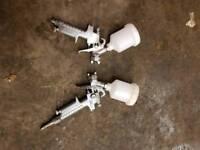 Pair of paint guns smart repair