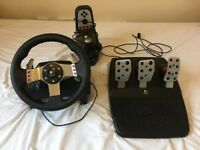 Logitech G27 Racing Wheel w/Pedals & Gearshift