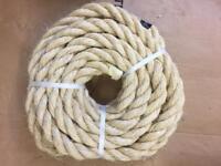 32mm sisal Rope x 10 metres brand new unused