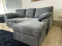 Ex display left/right hand corner sofa