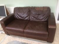 Free leather sofa 2 seater