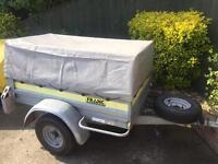 Larger franc tipping trailer + extension kit/spare wheel/jockey wheel