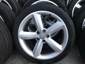 "GENUINE 18"" Audi A4 s line alloys"