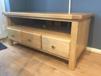 Very Heavy Solid Oak TV Unit