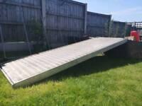 Aluminium loading ramp