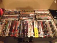 90 DVDs 5 blu-Ray's