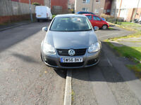 VOLKSWAGEN GOLF GT TDI 56 PLATE 2006 MOT JULY 2017
