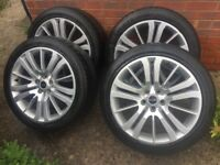 Set of 4 alloys and tyres. cheap