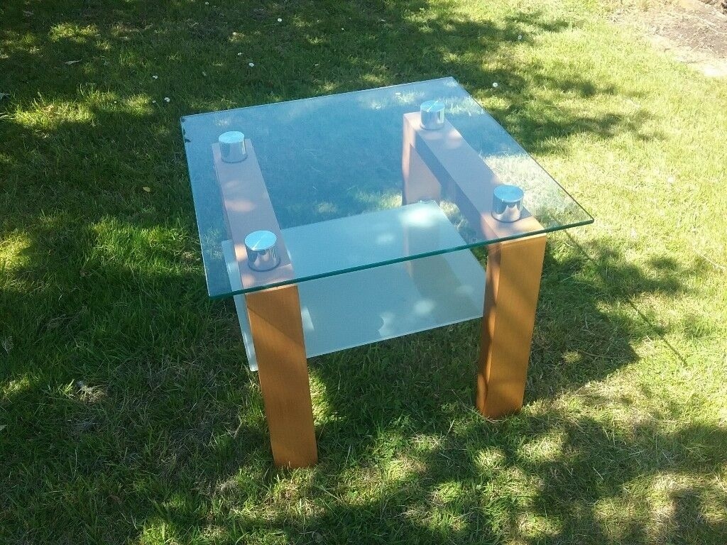 Glass Top Ainsley Side Table And Matching Dining Table Cm Xcm - Wayfair glass side table