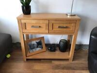 Oak veneer tv cabinet and side board