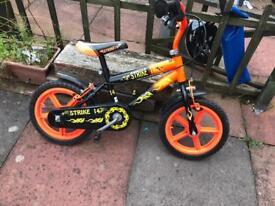 """Boys Striker 14"""" bike"""