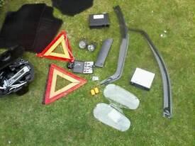 car accessories : hazard triangle / mats / wind deflectors + more