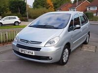 2007(07) CITROEN XSARA PICASSO 1.6 EXCLUSIVE - ONLY 25,000 MILES - FSH - 1 OWNER - MOT JULY 2017