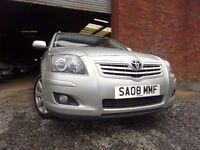 08 TOYOTA AVENSIS T3-X D-4D2.0 DIESEL ESTATE,MOT FEB 018,2 OWNER FROM NEW,PART HISTORY,STUNNING CAR