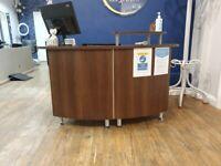 Hair and Beauty salon reception desk