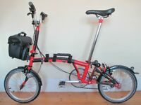 Stunning Custom Built Brompton Folding Bike With (Optional) Bag & Accessories