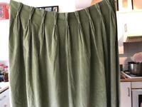 Velvet curtains x 1 pair
