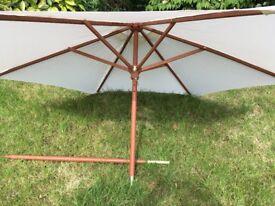 SOLD - Cream garden parasol