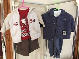 Baby boy infant trousers, dungarees, tops & jackets 3-6m, Next, Boots, George etc