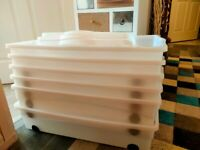 Large Under Bed Storage Containers with Lids - On wheels £10 each