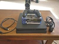 PS4 Slim 500gb - Fully working - One controller + Games