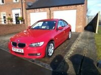 BMW 320i Coupe SE Red / Cream Leather 2007 low mielage new MOT