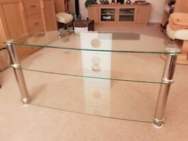 """Glass TV stand - suitable for TV up to 50"""""""