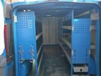 Vauxhall vivaro lwb van racking shelves 06-14 metal plumbing