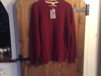 Mans Timberland red jumper size Large bnwt