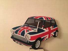 Union Jack Car Clock