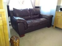 3 and 2 Seater Leather Sofa's PRICE REDUCED