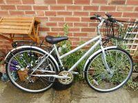 ladies hybrid silver kensington 18 inch frame bike